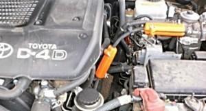 Verringerung des Kraftstoffverbrauchs toyota land cruiser 2,4